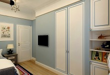 Канат как настенный декор в дизайне детской комнаты для мальчика .