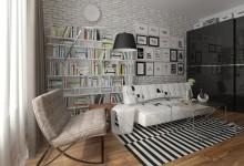 Кирпич, дерево и дизайнерская мебель