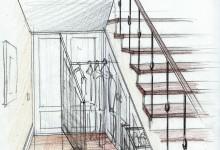 Концепция загородного дома в эскизах