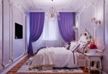 Королевский кобальт и лаванда: квартира 106 кв. метров в классическом стиле