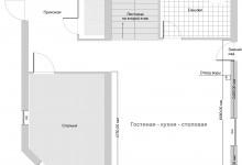 Крик о помощи: Гостиная-кухня-столовая 33 кв.м.