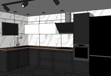 Кухня в проекте. Прошу совета по поводу расстановки гарнитура.