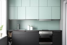 Кухня в скандинавском стиле (как открыть верхний шкаф, не задев потолок?;))