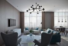 Квартира 115 кв.м. в современном стиле в ЖК Триколор