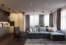 Квартира 140 кв.м. в современном стиле в ЖК Донской Олимп