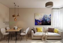 Квартира 37 кв.м. в современном стиле в ЖК Арт