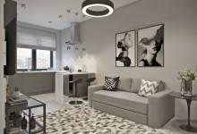 Квартира 41 кв.м в современном стиле в ЖК Водный