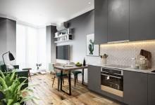 Квартира 42 кв.м в стиле эклектика в ЖК «Невский»
