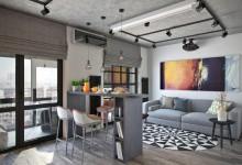 Квартира 45 кв.м. с большой лоджией в стиле лофт в UP-квартал Западное-Кунцево
