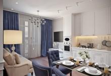 """Квартира 45 кв.м. в неоклассическом стиле в ЖК """"Кристалл"""""""