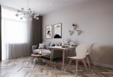 Квартира 55 кв.м. в современном стиле в ЖК «Оранж Парк»