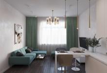 Квартира 63 кв. метра  в современном стиле