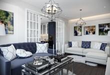 """Квартира 65 кв.м в стиле американская классика в ЖК """"Николин парк"""""""