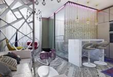 """Квартира для креативной девушки. Проект """"Футур гламур"""""""