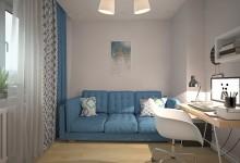 Квартира с мотивами скандинавского стиля