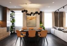Квартира в 155 кв. метров в современном стиле в ЖК Флагман