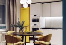 Квартира в стиле mid-century в ЖК Европа сити - 68 м²