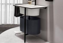 Мебель для ванной: овал и прямоугольник