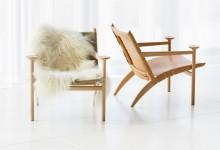 Легкое кресло в скандинавском стиле
