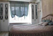 Любовь к оттенкам серо-бежевого в трёхкомнатной квартире. Спальня