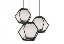 Ткань и металл: геометрические светильники