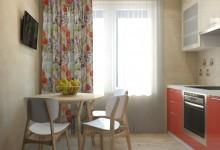 Маленькая кухня и узкий коридор
