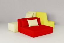 Модульные диваны: цвет и форма