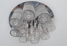 Монтаж нестандартной потолочной люстры на натяжной потолок