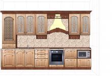 можно ли сделать кухню интересной, если она в линеечку длиной 3730