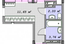 Нужен совет по перепланировке большой 1к.кв (70 м2) в трешку.