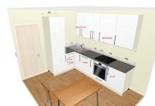 Нужно выбрать 1 из 3-х вариантов расстановки мебели на кухне 8 м (нам нужен победитель!))