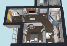 Очередная планировка квартиры с перенесенным сроками сдачи дома.