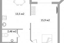Интерьер маленькой квартиры 38 кв метров - фото