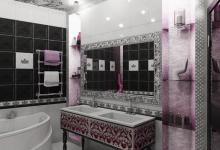 Интерьер ванной в стиле ар-деко