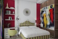 Интерьер спальни в стиле поп-арт
