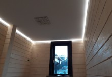 Парящие потолки в деревянном доме