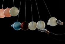 Люстра из стеклянных шаров