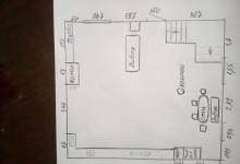 Перепланировка 1 этажа(кухня, столовая, гостиная)