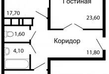 Перепланировка 2-ой квартиры