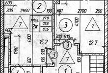 Перепланировка 2к квартиры, 2 уровня, 80,6 кв.м.