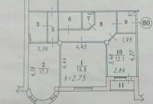 Перепланировка 3-ки в 4-х комнатную