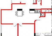 Перепланировка двухкомнатной квартиры в четырёхкомнатную