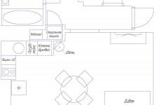 Перепланировка компактной трехкомнатной квартиры