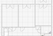 Перепланировка линейной двушки 56,7 м2