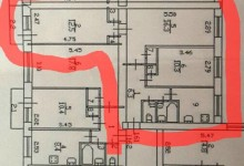 Перепланировка санузла в кирпичной девятиэтажке 1-528КП-42