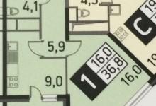 планировка 1-комн квартиры