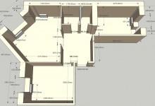Планировка 2ки с комнатой 6 углов, 66 квадратов, 2 ребенка и кот.