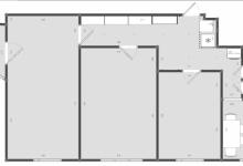Планировка 3-комнатной квартиры для 4 человек