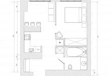 Планировка квартиры 36м2