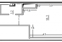 Планировка студии 27 кв.м.